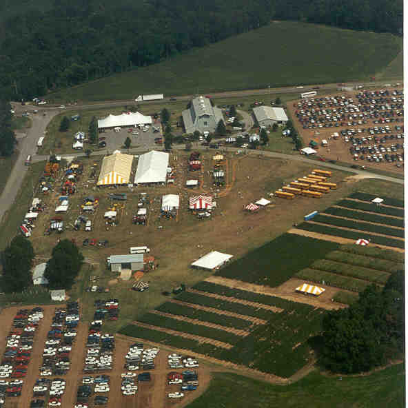 Aerial image Milan No-Till Field Day event